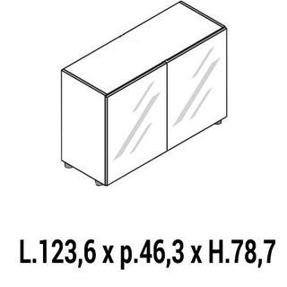 Immagine di IULIO HG: Mobile contenitore basso a 2 ante chiuso
