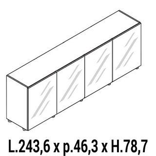 Immagine di IULIO HG: Mobile contenitore basso a 4 ante chiuso