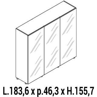 Immagine di IULIO HG: Mobile contenitore medio a 3 ante chiuso