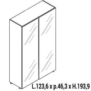 Immagine di IULIO HG: Mobile contenitore alto a 2 ante chiuso