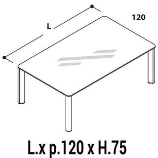 Immagine di IULIO HG: Tavolo Riunione rettangolare P.120cm