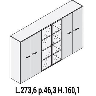 Immagine di IULIO: Mobile contenitore medio a 4 ante e 2 ante vetro con serratura