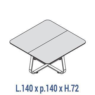 Immagine di 70's: Tavolo riunione quadrato