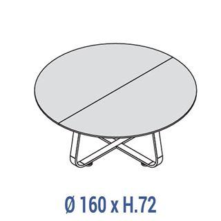 Immagine di 70's: Tavolo riunione circolare Ø 160