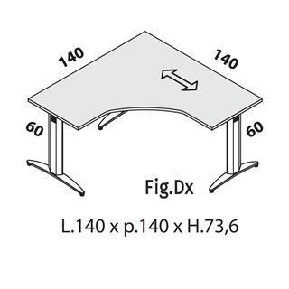 Immagine di Oxi Basic: Workstation L.140 P.140 (T Sagomata)