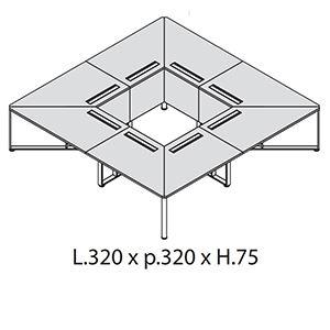 L.320 x p.320 x H.75