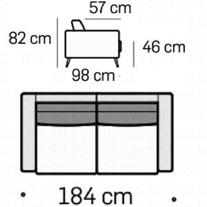 Divano 2 Posti L.184Cm [+€418,00]