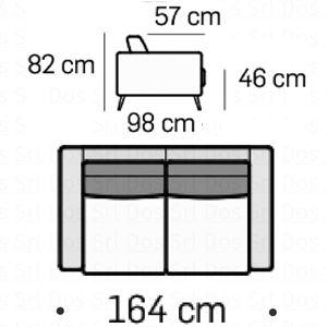 Divano 2 Posti L.164Cm [+€331,00]