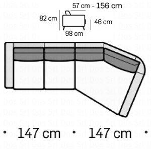 Divano 2 posti con trapezio DX [+€1446,00]