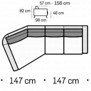 Divano 2 posti con trapezio SX [+€1446,00]