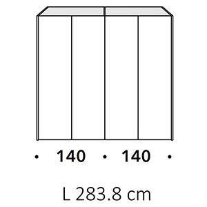 Lunghezza 283,3Cm