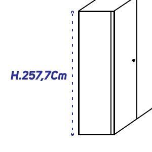 H.257,7Cm [+€333,00]