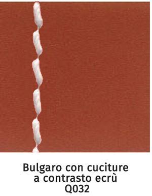 Q032 bulgaro con cuciture a contrasto ecrù