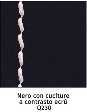 Q230 nero con cuciture a contrasto ecrù