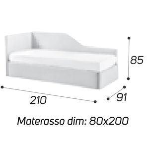 Angolo Sagomato - M: 80x190