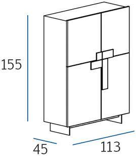 Profondità 45cm [+€124,00]