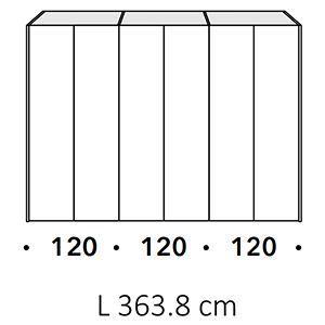 Lunghezza 363,8Cm