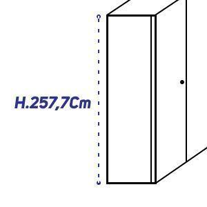 H.257,7Cm [+€280,00]
