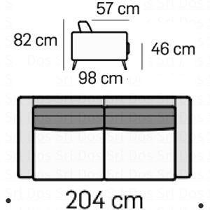 Divano 2 Posti L.164Cm