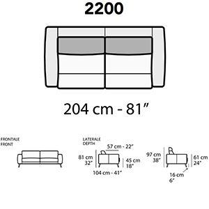 Divano 2 Posti L.204Cm