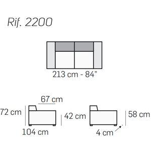 Divano 2 Posti L.213Cm