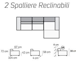 2 Spalliere Reclinabili [+€602,00]