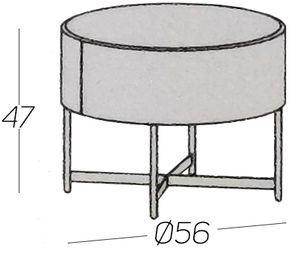 Diametro Ø56cm [+€60,00]
