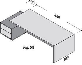 Lunghezza 250cm SX [+€50,00]